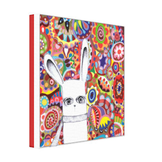 Cute Bunny Art Stretched Canvas Prints