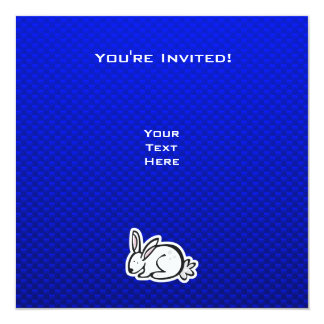 Cute Bunny; Blue 13 Cm X 13 Cm Square Invitation Card