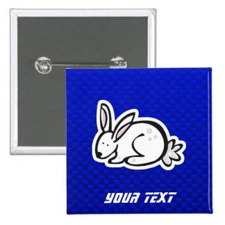 Cute Bunny; Blue Pinback Buttons