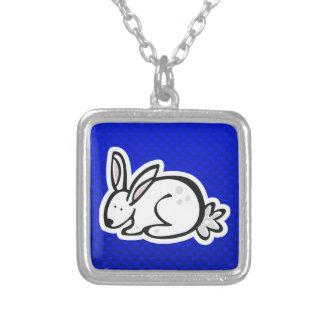 Cute Bunny; Blue Custom Necklace
