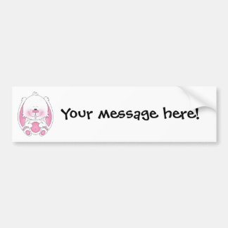 Cute Bunny Cartoon Bumper Sticker