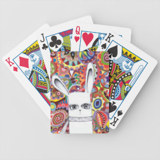 Cute Bunny Colorful Abstract Art Playing Cards