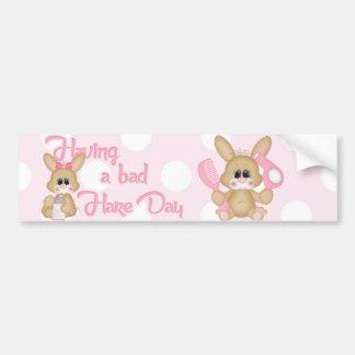 Cute Bunny Designed Bumper Sticker. Car Bumper Sticker