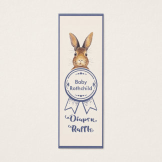 Cute Bunny Diaper Raffle Ticket Baby Shower Game