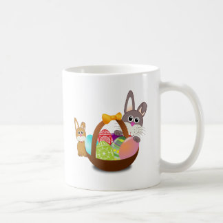 Cute bunny for happy easter day coffee mug