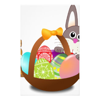Cute bunny for happy easter day stationery