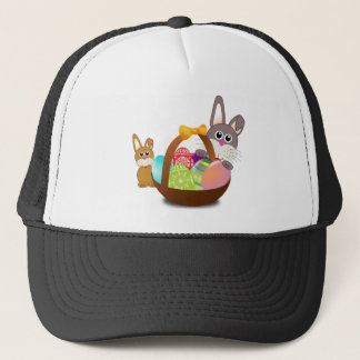 Cute bunny for happy easter day trucker hat