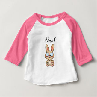 Cute Bunny Kids Shirt with name - Abigail