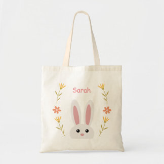 Cute Bunny Kids Tote Bag