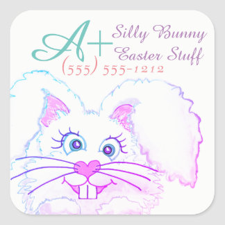 Cute Bunny Labels Personalized Stickers
