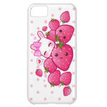 Cute bunny loves kawaii strawberries iPhone 5C case