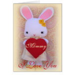 Cute Bunny Mother's Day Greeting Card