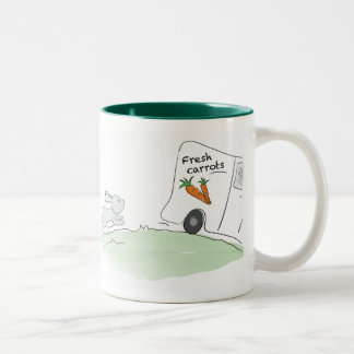 Cute Bunny mug (Chasing carrots)