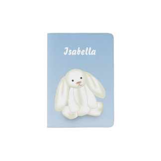 "Cute Bunny ""Name This!"" - Passport Holder"