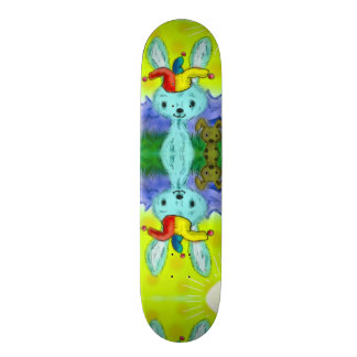Cute Bunny & Puppy Airbrush Custom Pro Park Board Skateboard Deck