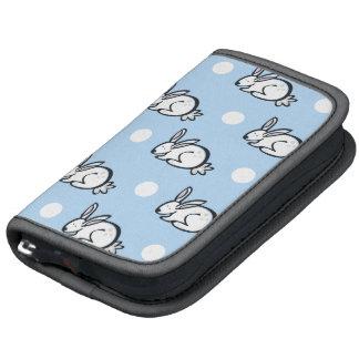Cute Bunny Rabbit Baby Blue White Polka Dots Organizer