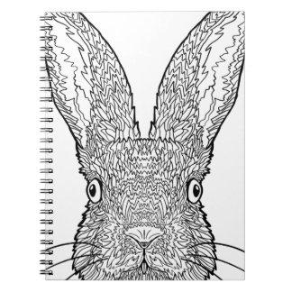 Cute Bunny Rabbit Design Notebook