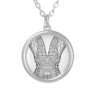 Cute Bunny Rabbit Design Silver Plated Necklace