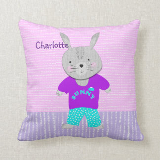 Cute Bunny Rabbit Kids Personalized Cushion