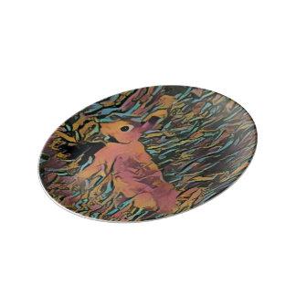 Cute Bunny Rabbit Porcelain Plate