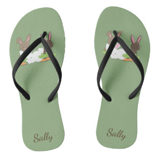 Cute Bunny Rabbit Trio Personalized Thongs