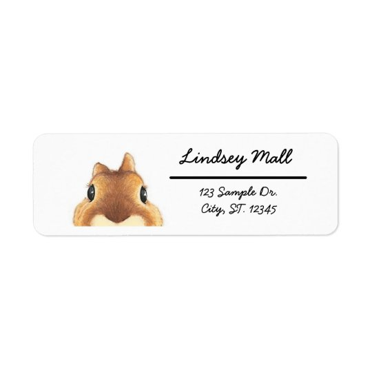 Cute Bunny Return Address Label