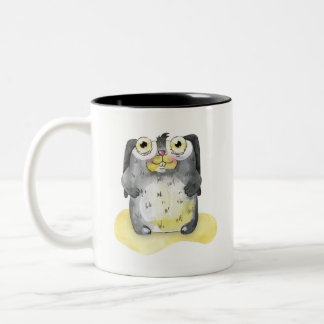 Cute Bunny Watercolor Illustration Collectable Two-Tone Coffee Mug