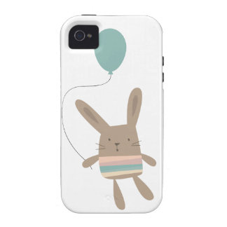 Cute Bunny with Balloon iPhone 4/4S Case
