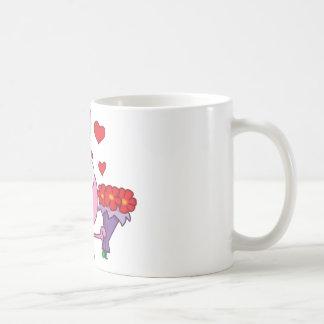 Cute Bunny With Flowers Coffee Mug