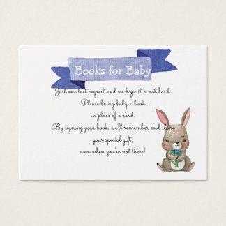Cute bunny with flowers  SHOWER BOOK REQUEST Business Card