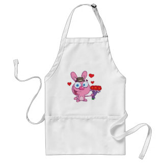 Cute Bunny With Flowers Standard Apron