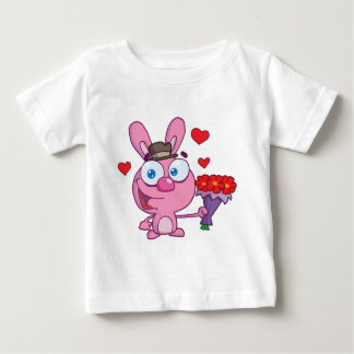 Cute Bunny With Flowers T-shirts