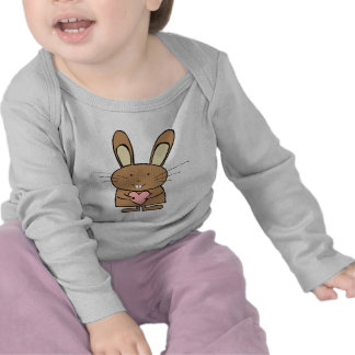 Cute Bunny with Heart T-shirts
