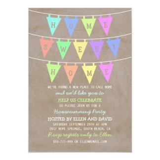 Cute Bunting Banners Home Sweet Home Housewarming Card