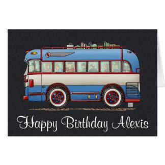 Cute Bus Tour Bus Greeting Card
