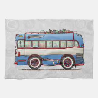 Cute Bus Tour Bus Hand Towel
