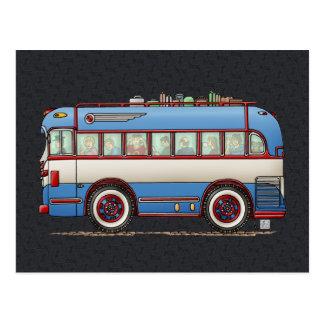 Cute Bus Tour Bus Postcard