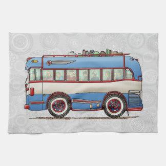 Cute Bus Tour Bus Hand Towel