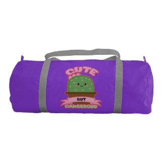 Cute But Dangerous - Kawaii Cactus - Funny Gym Bag
