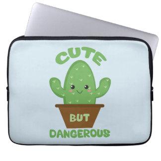 Cute But Dangerous - Kawaii Cactus - Funny Laptop Sleeve
