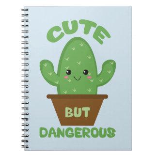 Cute But Dangerous - Kawaii Cactus - Funny Notebook