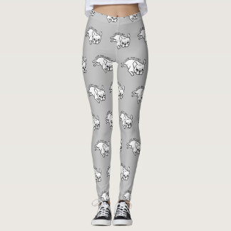Cute but lazy French Bulldog design Leggings