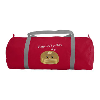Cute Butter Pancakes Better Together Funny Foodie Gym Bag