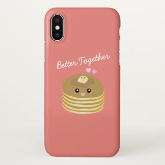 Cute Butter Pancakes Better Together Funny Foodie iPhone X Case