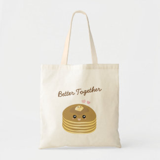 Cute Butter Pancakes Better Together Funny Foodie Tote Bag