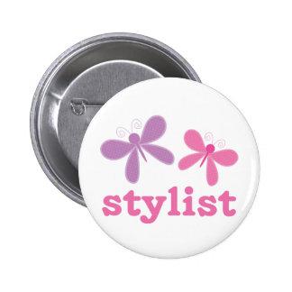 Cute Butterflies Beauty Stylist 6 Cm Round Badge