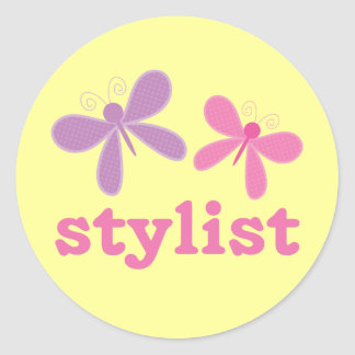 Cute Butterflies Beauty Stylist Classic Round Sticker