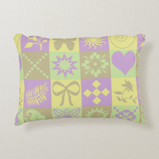 Cute Butterflies, Flowers, Hearts and Swirls Decorative Cushion
