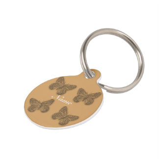 Cute Butterfly Love Pet ID Tag