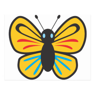 Cute Butterfly Monarch Cartoon Postcard